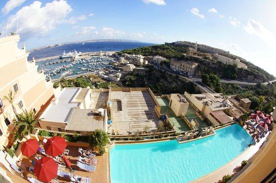 Grand Hotel Gozo: Blick vom Balkon am Morgen