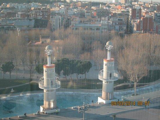 The park next door to the Barcelo Sants