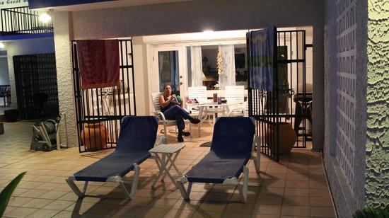 Villas on Great Bay: Our Villa #5 lanai at night