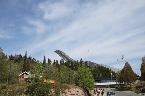 Schisprungschanze und Schimuseum am Holmenkollen: View from far