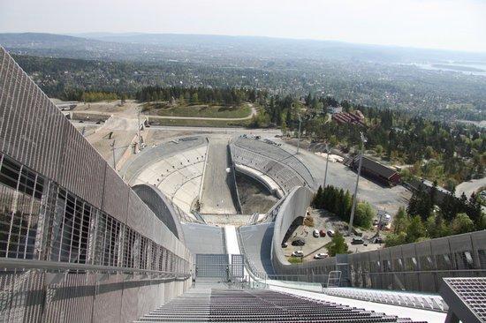 Schisprungschanze und Schimuseum am Holmenkollen: The drop !