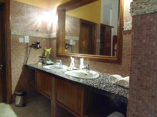 Le Duc de Praslin : Grande Salle de bain ouverte sur la chambre