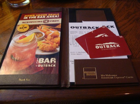Where can outback steakhouse gift cards be used