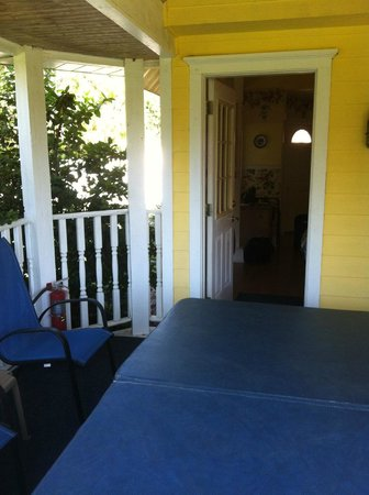 Shamrock Thistle & Crown Bed and Breakfast : Private patio with jacuzzi