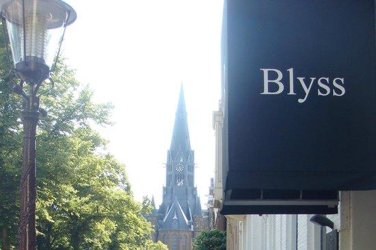 Hotel Blyss: Красивый вид у входа в отель