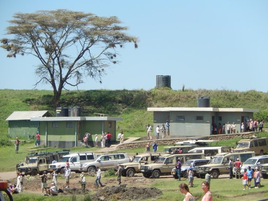 Ngorongoro Wildlife Lodge : Lunch Time in the Crater, Few Land Rovers