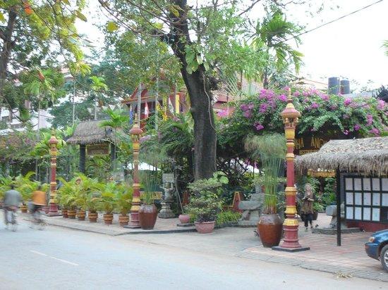 Bopha Siem Reap Boutique Hotel: Вид со стороны реки