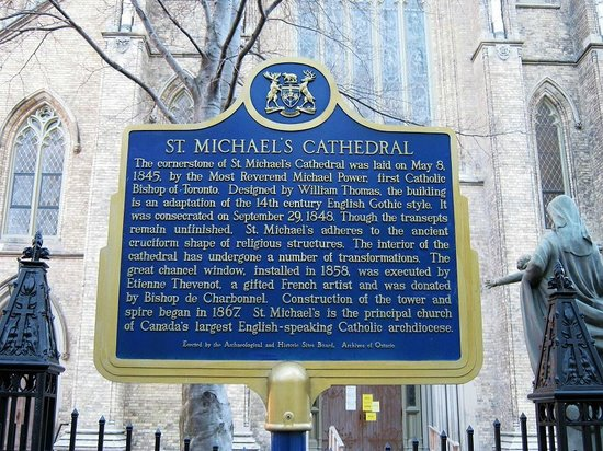 St Michael's Cathedral Basilica: Historical Plaque
