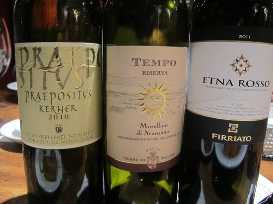 Senso Ristorante and Bar: Wines for our evening