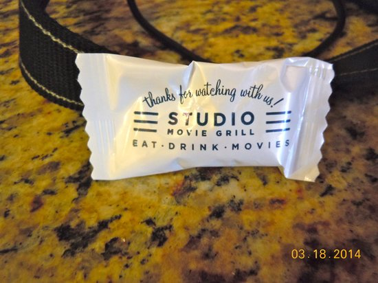 Studio Movie Grill: They have mints