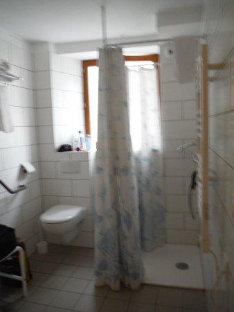 Chalet la Tarine: bagno con doccia