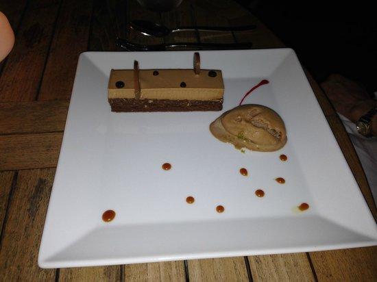 L' Esprit: L'Esprit's Crispy Chocolate Cake with Caramel Ice Cream