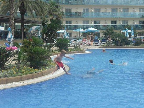 Golden Taurus Park Resort: Liam in the Pool