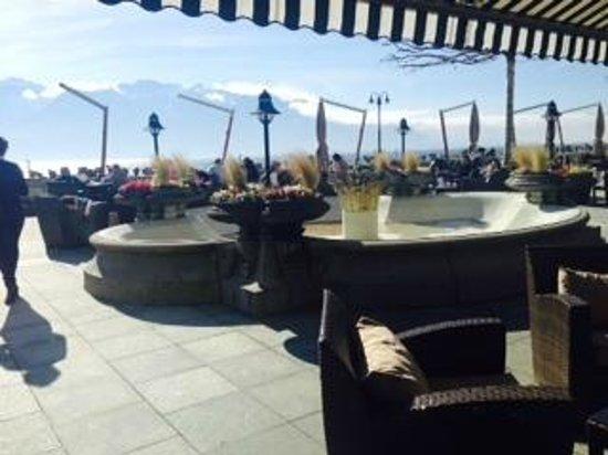 Hotel des Trois Couronnes : terrace