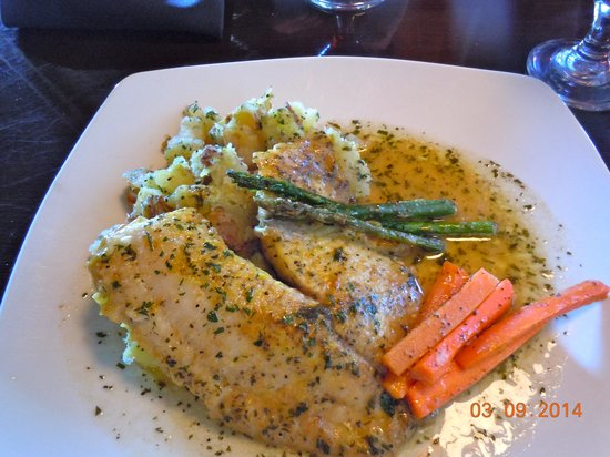Cafe Provence: Tilapia in some sauce