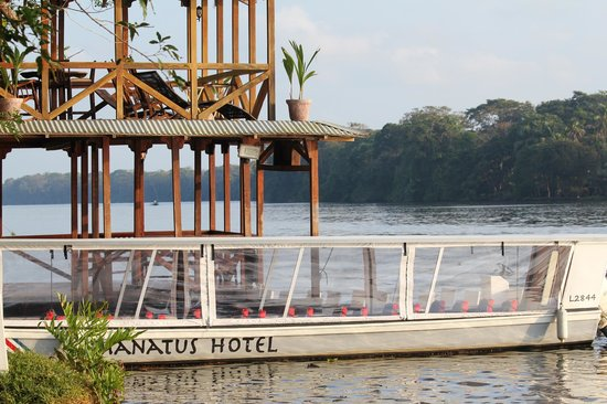 Manatus Hotel: The boat landing (and porch above)