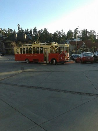 Northwoods Resort : Trolley on weekends $5 takes you all over