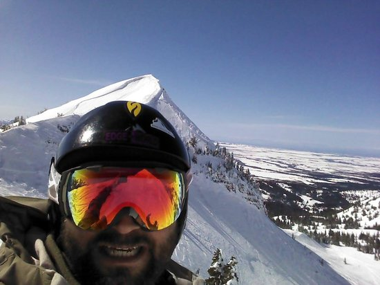 Grand Targhee Resort: Kent atop Mary's back country run 1