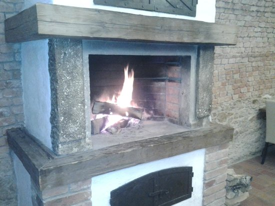 Hotel Gold Chotoviny: fireplace in restaurant