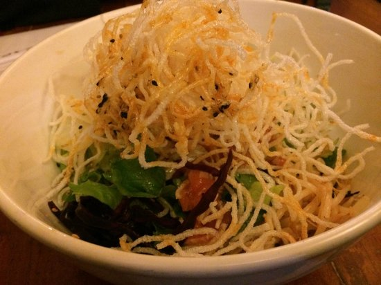Kazu: Salmon tartar salad
