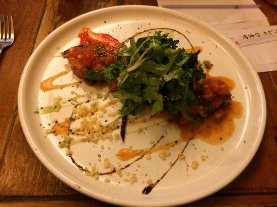 Kazu: Tomato grilled octopus