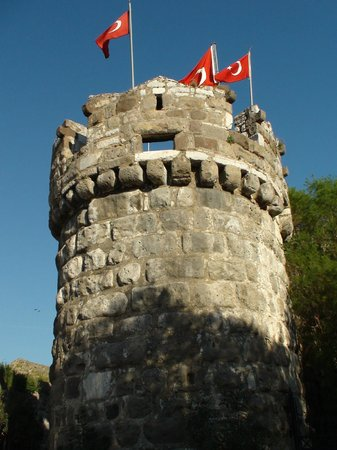 Castle of St. Peter : One of the 5 towers, all of which represents a language of the Castle's formidable inhabitants
