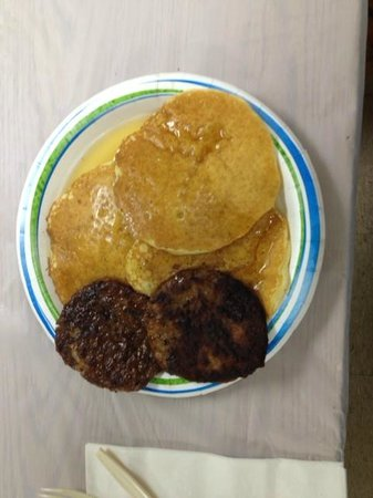Cumming Nature Center: Pancake breakfast in Visitor's Building