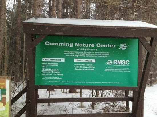 Cumming Nature Center: Cumming front sign