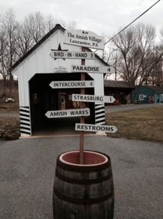 The Amish Village: covered bridge