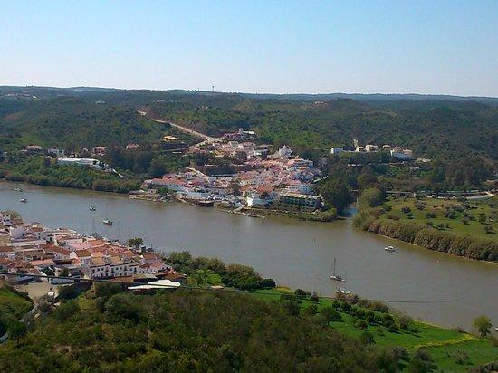 Sanlucar de Guadiana, Spain: Vistas desde la plataforma de la tirolina.