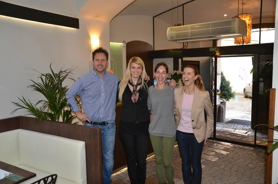 Hotel Residence Agnes: Frank the Boss, Magdalena,Linda and Natalie Brilliant Girls :) Look forward to seeing you all so