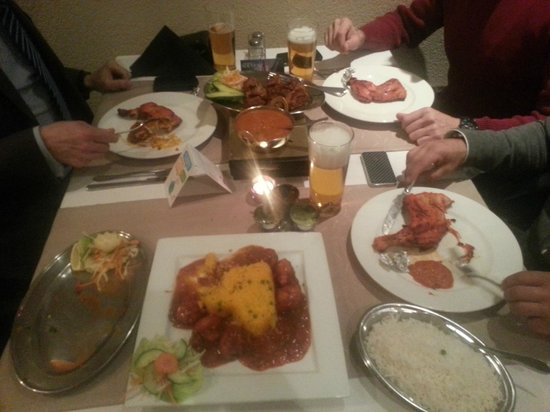Kathmandu: at the table