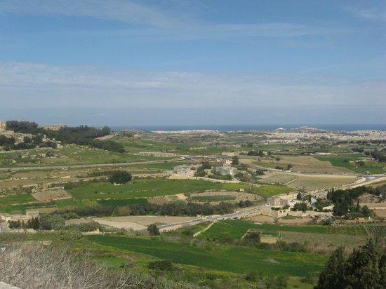 Mdina Old City: View from Mdina ramparts