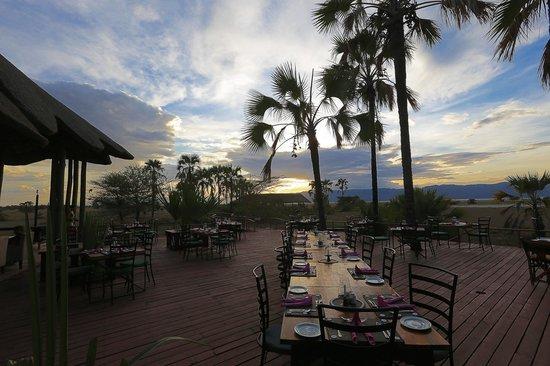Maramboi Tented Camp: Diner met uitzicht