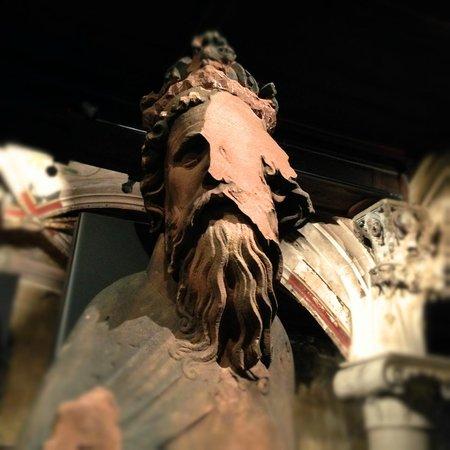 Musée de l'Œuvre Notre-Dame: a statue of an emporer which half his face missing