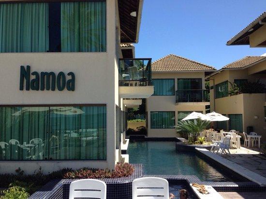 Namoa Pousada e Turismo: Vista do deck da piscina pra pousada.