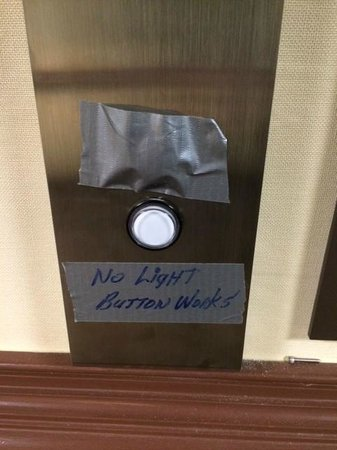 Wyndham Garden Pittsburgh Airport: Duct tape - doesn't give confidence, does it?