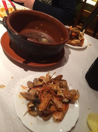 Restaurante Casa Das Tostas: Seafood rice, the aftermath!