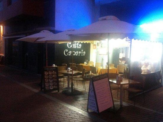 Costa Canaria: Terasse
