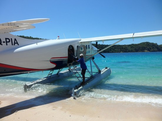 Paradise Cove Resort : Float Plane an easy option from Nadi Airport.