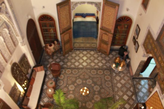 Riad Idrissy : View of the inner courtyard from our room
