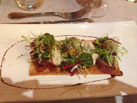 restaurant el portalet: First course