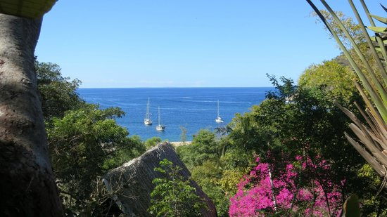 Casas de los Suenos: view to the ocean from Casa corona
