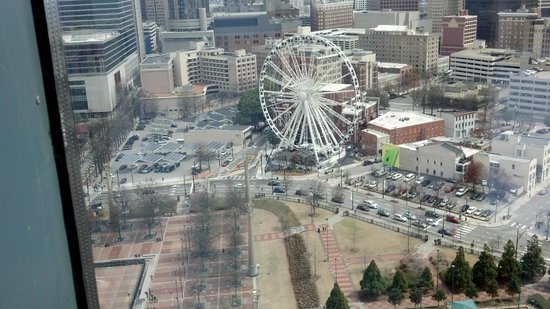 Omni Atlanta Hotel at CNN Center: View of Centennial Park from our window