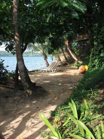 Garden of Eden Inn: Small beach from which to wait for your taxi