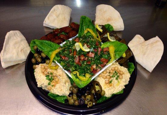 Cedar A taste of Lebanon : Mezza platter available for 10 or more
