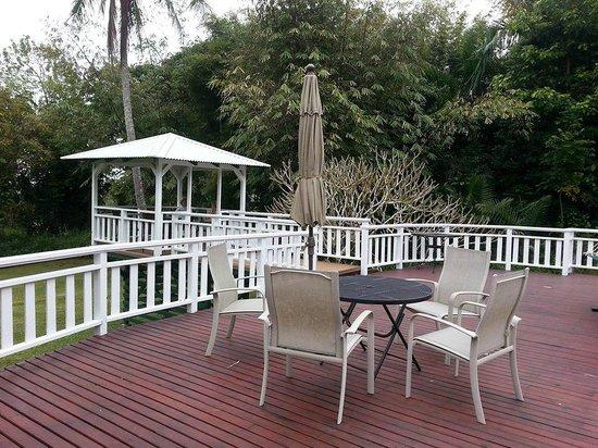 Waipio Wayside B&B: shared deck