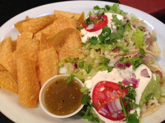 Pepe Delgado's: Veggie corn tacos my friend ordered- she is a small gal and she cleaned her plate! I take it tha