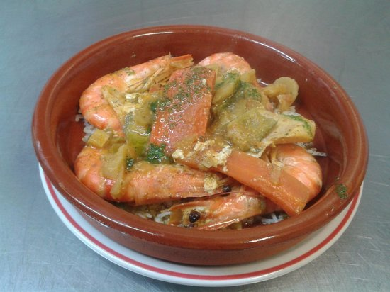 Alounak Restaurant : tagin prawns