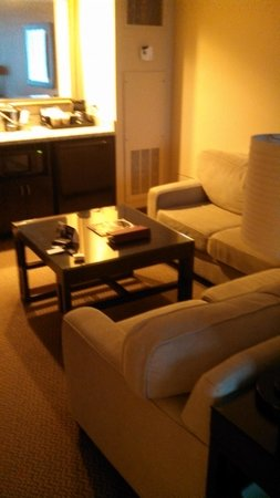 Four Winds Casino : Sectional couch in suite